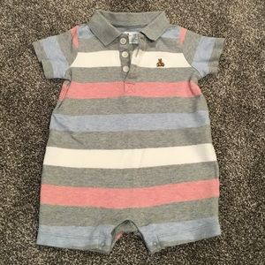 Gap short romper red, white and blue 6-9 months